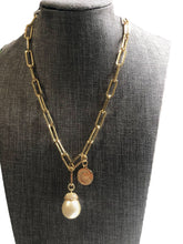 Load image into Gallery viewer, Mia Pearl & Charm Necklace