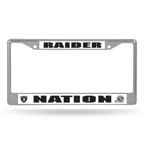 Rico Chrome License Plate Frame Las Vegas Raiders