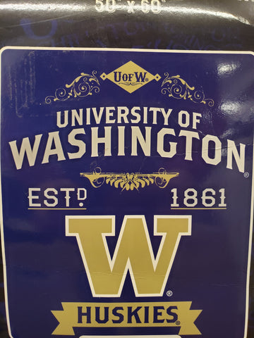 Northwest 50x60 Plush Washington Huskies