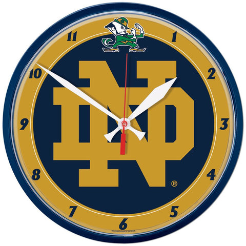 Wincraft Round Clock Notre Dame Fighting irish