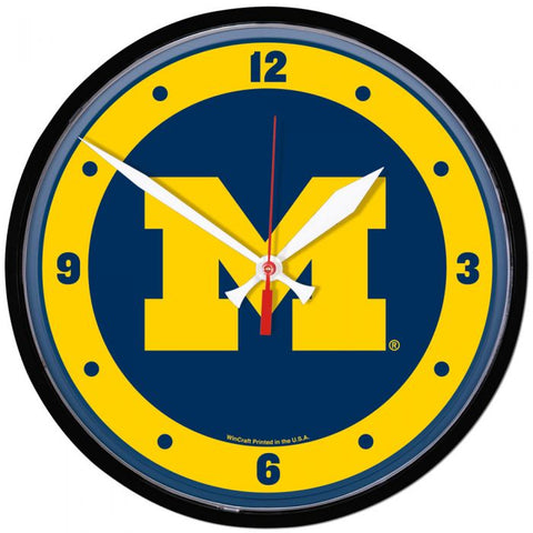 Wincraft Round Clock Michigan Wolverines