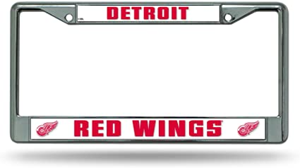 Rico Chrome License Plate Frame Detroit Red Wings