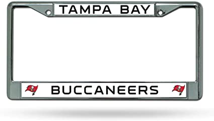 Rico Chrome License Plate Frame Tampa Bay Buccaneers