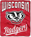 Northwest 50x60 Plush Wisconsin Badgers