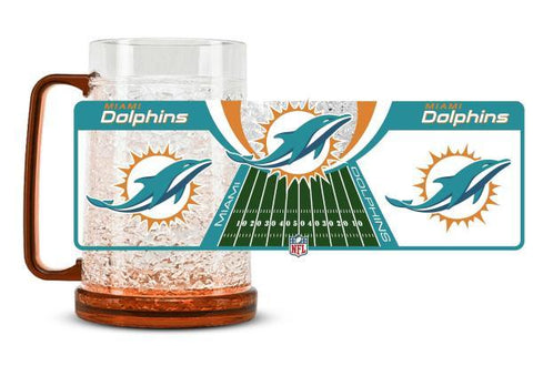 Duck House Crystal Freezer Mug Miami Dolphins