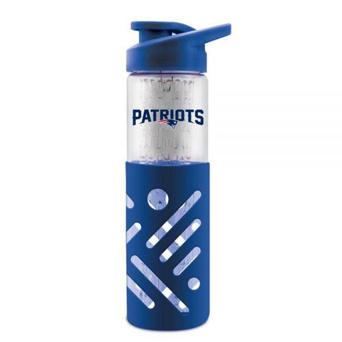 Duckhouse Glass Water Bottle New England Patriots