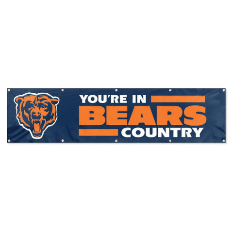 Party Animal 2x8 Nylon Banner Chicago Bears