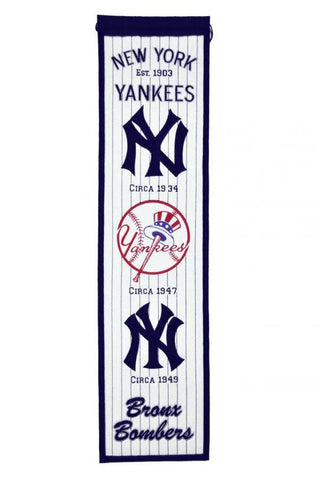 Winning Streak Heritage Banner New York Yankees