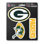 Fan Mats 3 Piece Team Decals Green Bay Packers