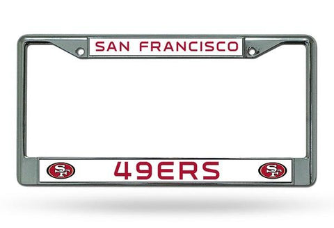 Rico Chrome License Plate Frame San Francisco 49ers