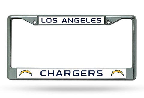 Rico Chrome License Plate Frame Los Angeles Chargers