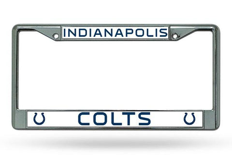 Rico Chrome License Plate Frame Indianapolis Colts