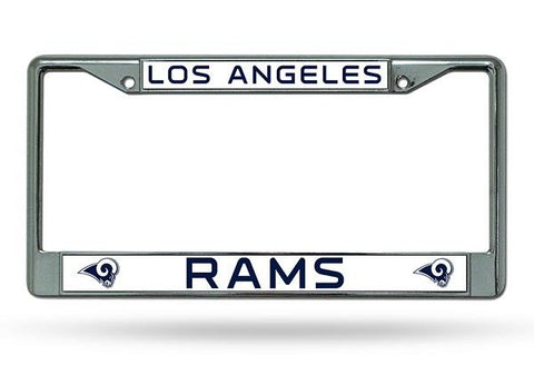 Rico Chrome License Plate Frame Los Angeles Rams