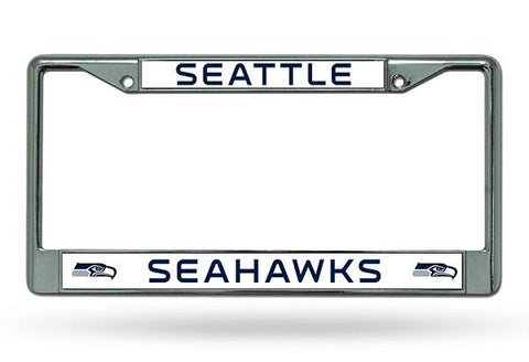 Rico Chrome License Plate Frame Seattle Seahawks