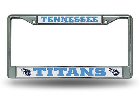 Rico Chrome License Plate Frame Tennessee Titans