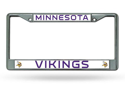 Rico Chrome License Plate Frame Minnesota Vikings