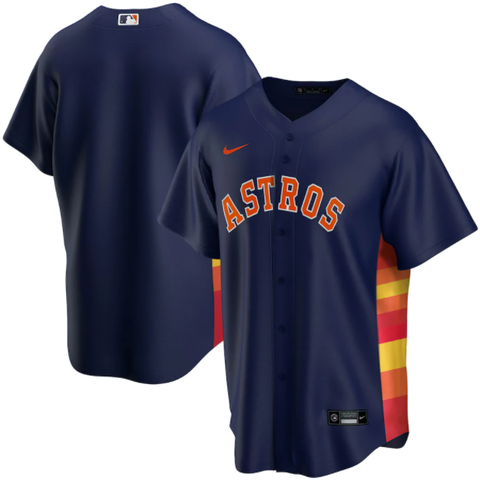 Nike Houston Astros Alternate Navy Replica Jersey