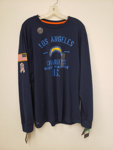 Nike Salute to Service Long Sleeve Shirt - Los Angeles Chargers