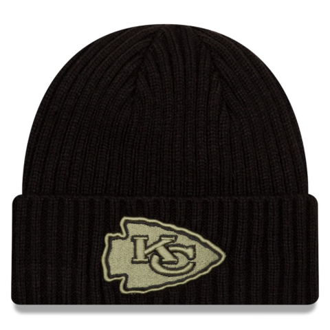 New Era 2020 Salute to Service Knit Hat - Kansas City Chiefs