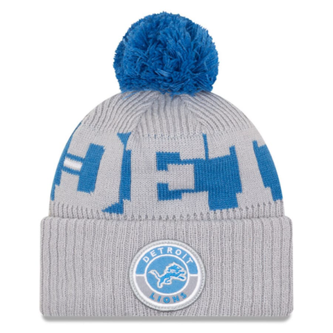 New Era 2020 Sideline Knit Hat Grey - Detroit Lions