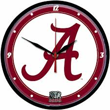 Wincraft Round Clock Alabama Crimson Tide