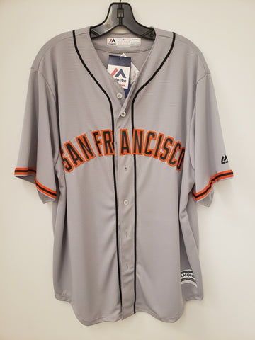 Majestic San Francisco Giants Road Grey Replica Jersey