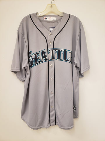 Majestic Seattle Mariners Road Grey Replica Jersey