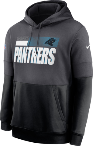 Nike Sideline Lockup Hoodie Black - Carolina Panthers