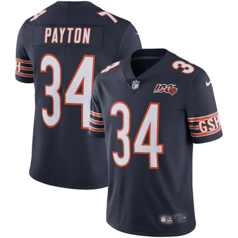 Nike Chicago Bears Home Limited Jersey 100th Anniversary Edition - Walter Payton
