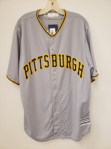 Majestic Pittsburgh Pirates Road Grey Replica Jersey