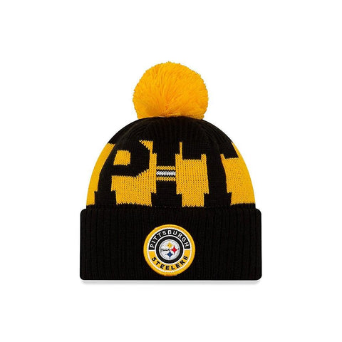 New Era 2020 Sideline Knit Hat Black - Pittsburgh Steelers