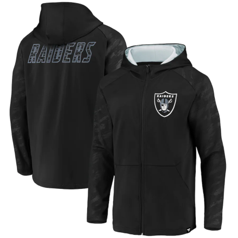 Fanatics Branded Stealth Full-Zip Hoodie - Las Vegas Raiders