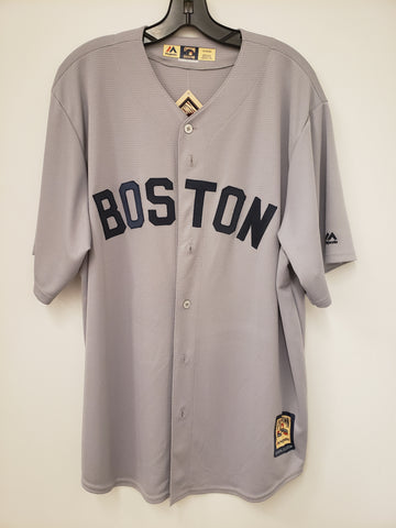 Majestic Boston Red Sox Cooperstown Collection Grey Jersey