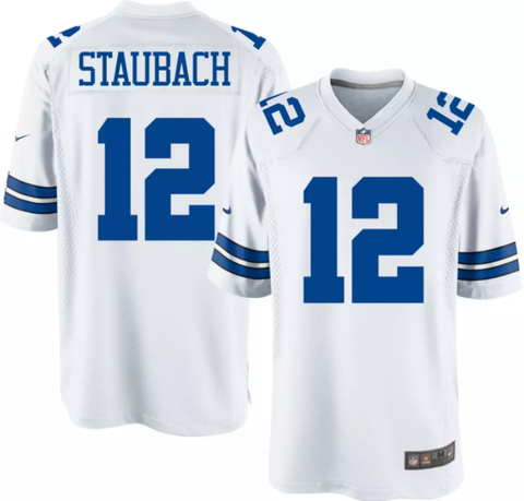 Nike Dallas Cowboys Legends White Game Jersey - Roger Staubach
