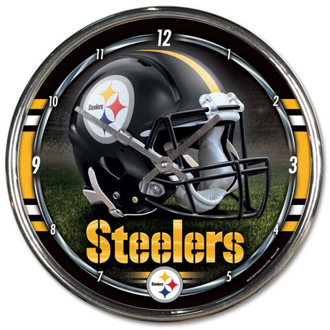 Wincraft Chrome Clock Pittsburgh Steelers