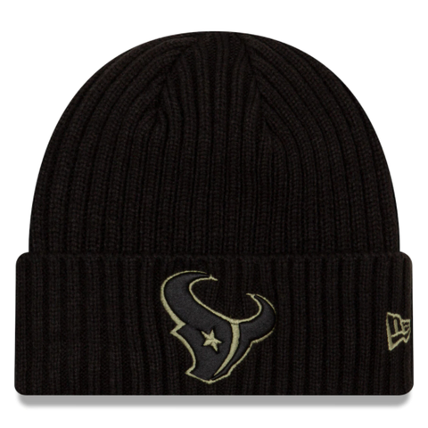 New Era 2020 Salute to Service Knit Hat - Houston Texans