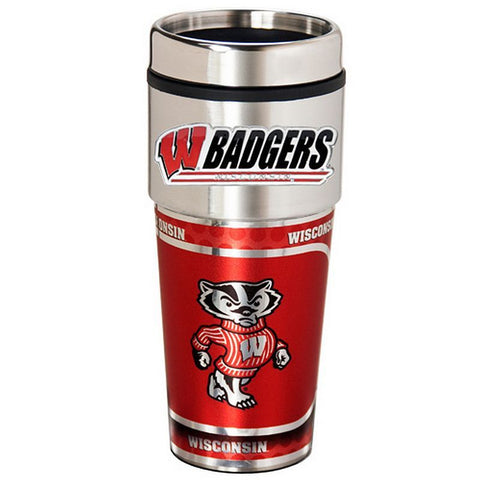Great American S.S. Travel Mug Wisconsin Badgers