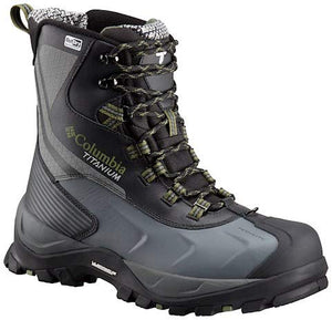 Columbia Powderhouse Titanium Omni-Heat 3D Outdry Winter Boot - Men's Black/Mosstone