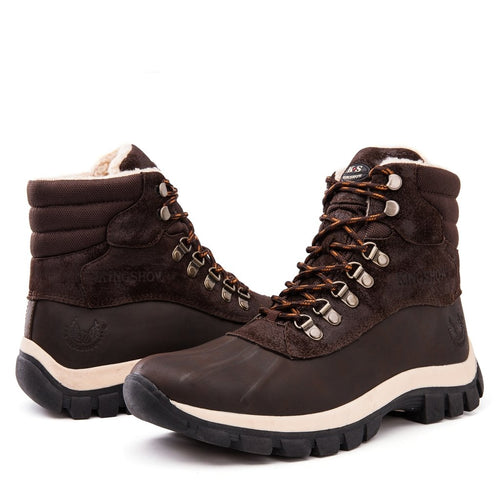 kingshow Men's 1705 Brown Snow Boots