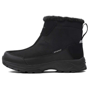 Anti-Slip Lightweight Ankle Boot SILENTCARE Mens Warm Snow Boots Fur Lined Waterproof Winter Shoes
