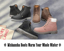 Load image into Gallery viewer, Mishansha Men's Women's Winter Snow Boots Warm Work Shoes Outdoor Ankle Bootie Brown