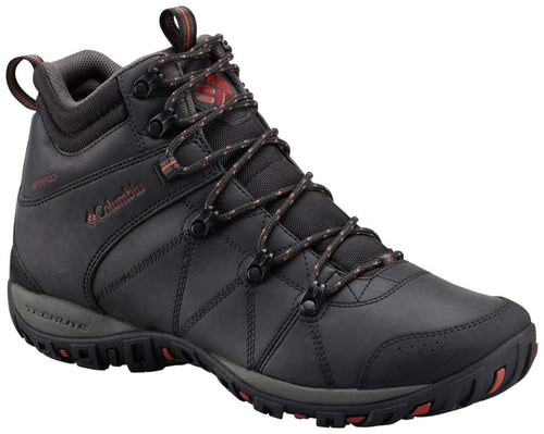 Columbia Men's Peakfreak Venture MID Waterproof Omni-Heat Hiking Boot, Black, Sanguine