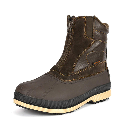 NORTIV 8 Men's 170410 Brown Black Insulated Waterproof Construction Hiking Winter Snow Boots