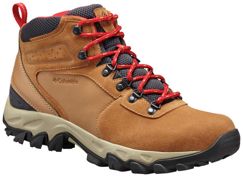 Columbia Men's Newton Ridge Plus II Suede Waterproof Boot - Wide, elk, mountain red