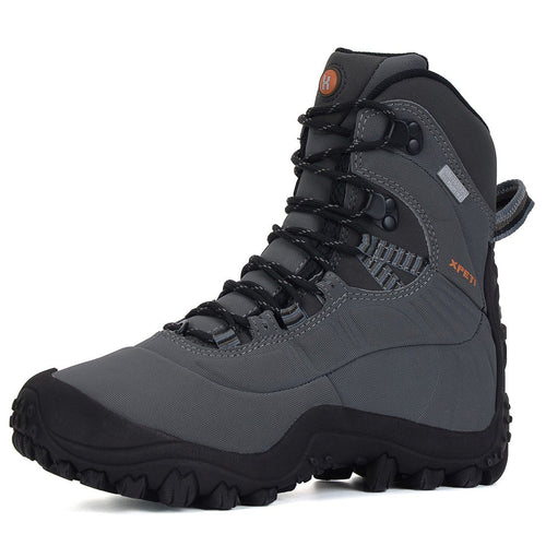 XPETI Men's Thermator Insulated Mid-Rise Waterproof Hiking Trekking Walking Mountain Outdoor Boots Light Grey