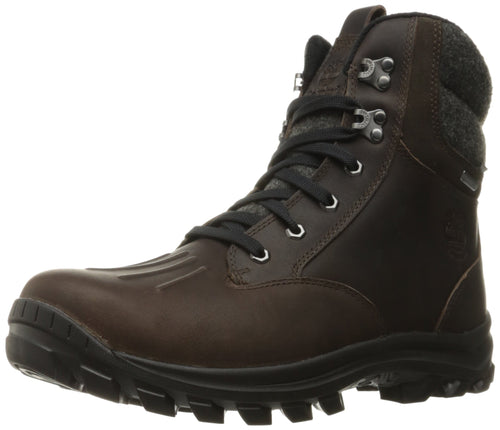 Timberland Men's Chillberg Mid Waterproof Insulated Snow Boot, Mulch TBL Forty Full Grain, US
