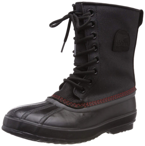 Sorel Men's 1964 Premium T CVS Snow Boot, Black, Sail Red
