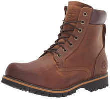 Load image into Gallery viewer, Timberland Men's Earthkeepers Rugged Boot, Medium brown full grain