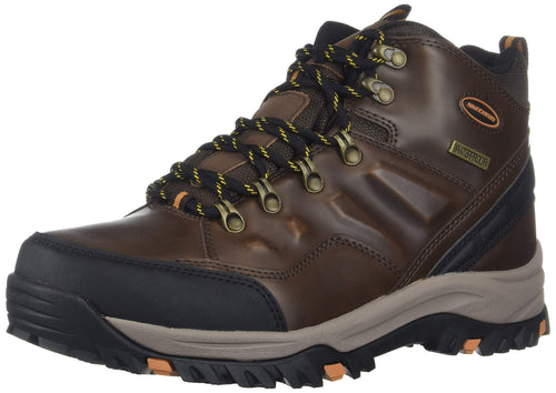 Skechers Men's RELMENT-TRAVEN Hiking Boot, dkbr, Wide, US