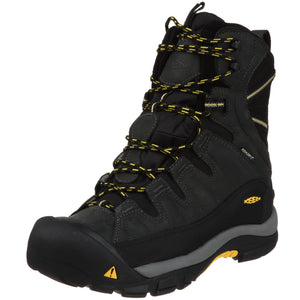 KEEN Men's Summit County Waterproof Winter Boot,Dark Shadow/Yellow, US